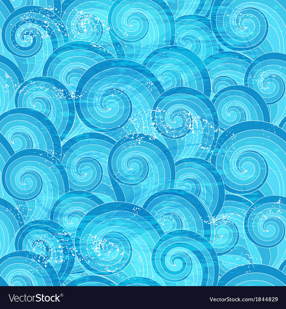 Seamless pattern with blue waves vector | Price: 1 Credit (USD $1)