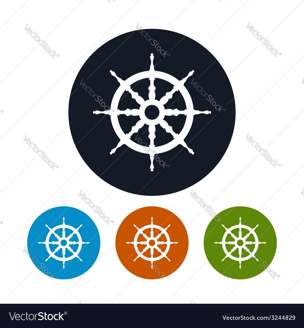 Ship wheel icon vector | Price: 1 Credit (USD $1)