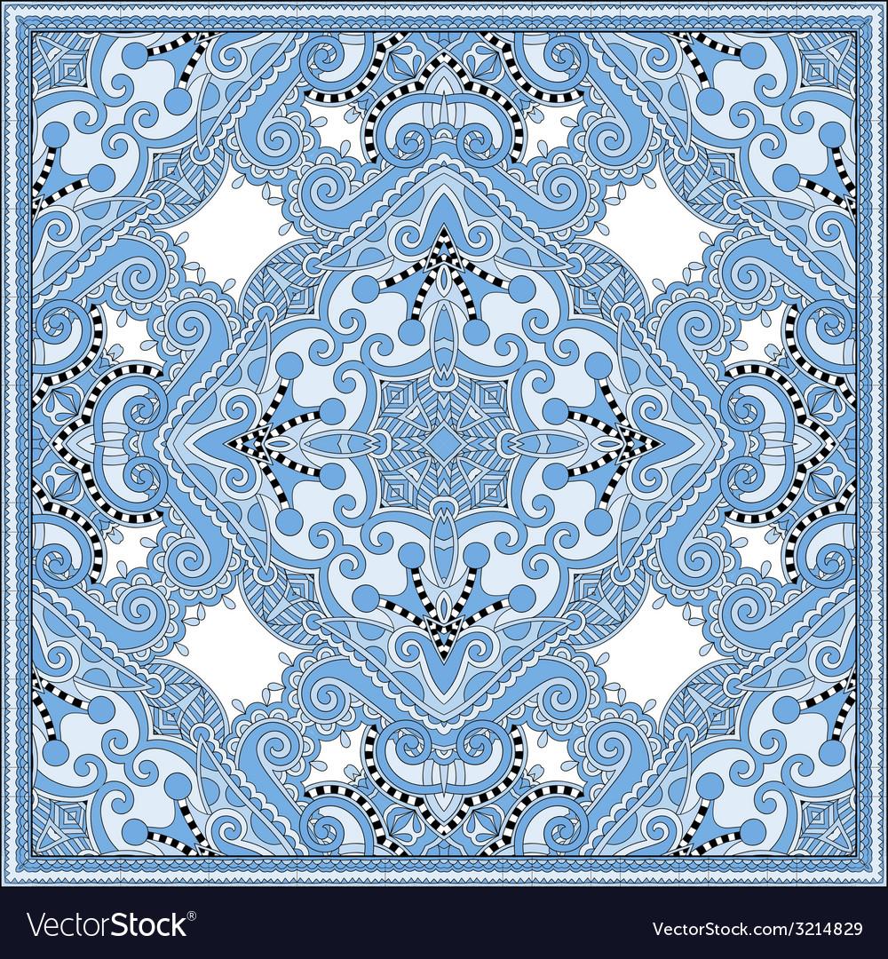 Silk blue colour kerchief square pattern design vector   Price: 1 Credit (USD $1)
