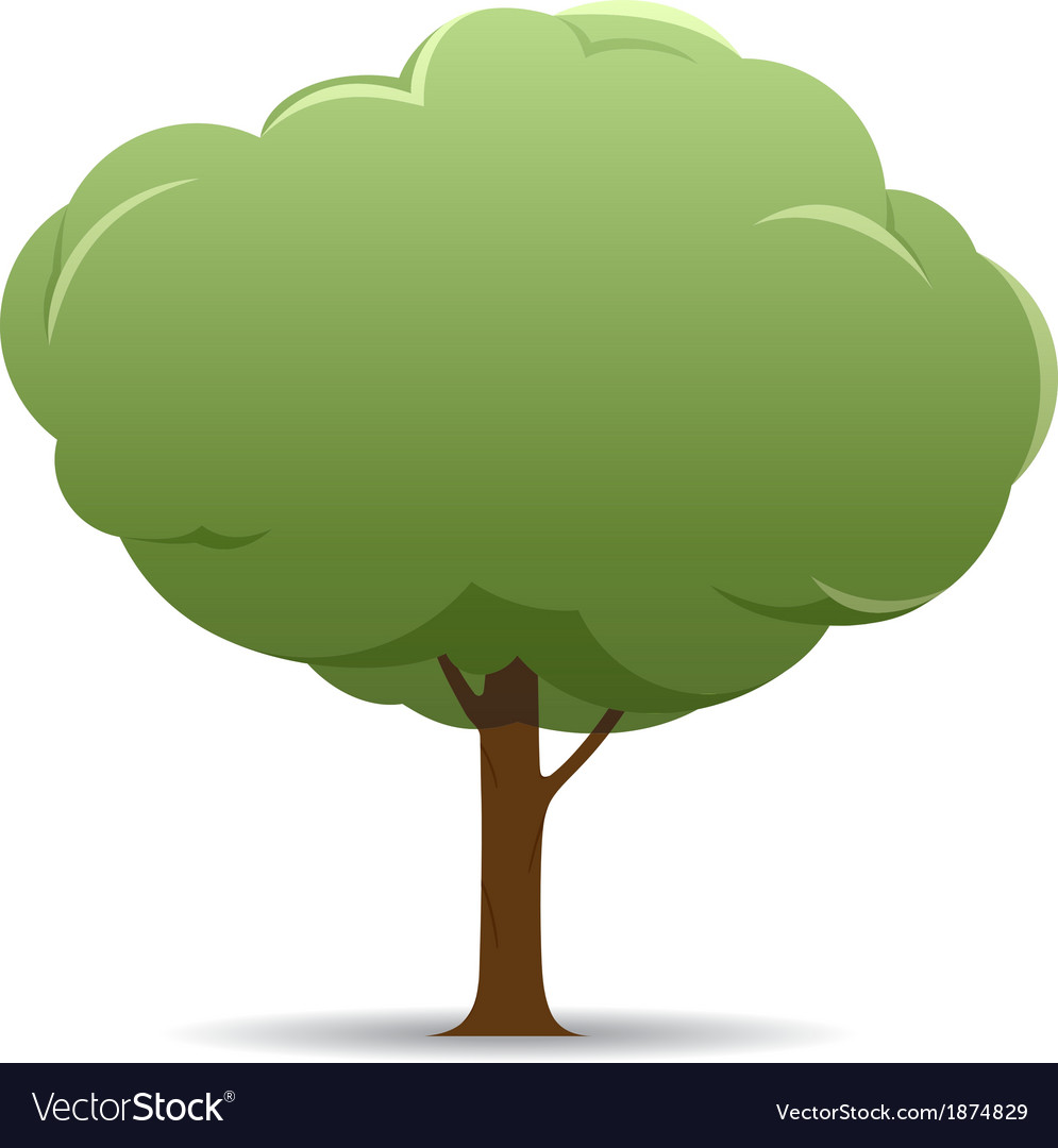 Stylized tree nature banner vector | Price: 1 Credit (USD $1)