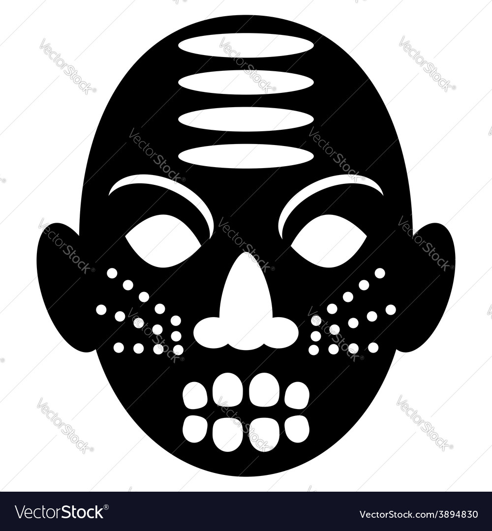 African masks tribal design vector | Price: 1 Credit (USD $1)
