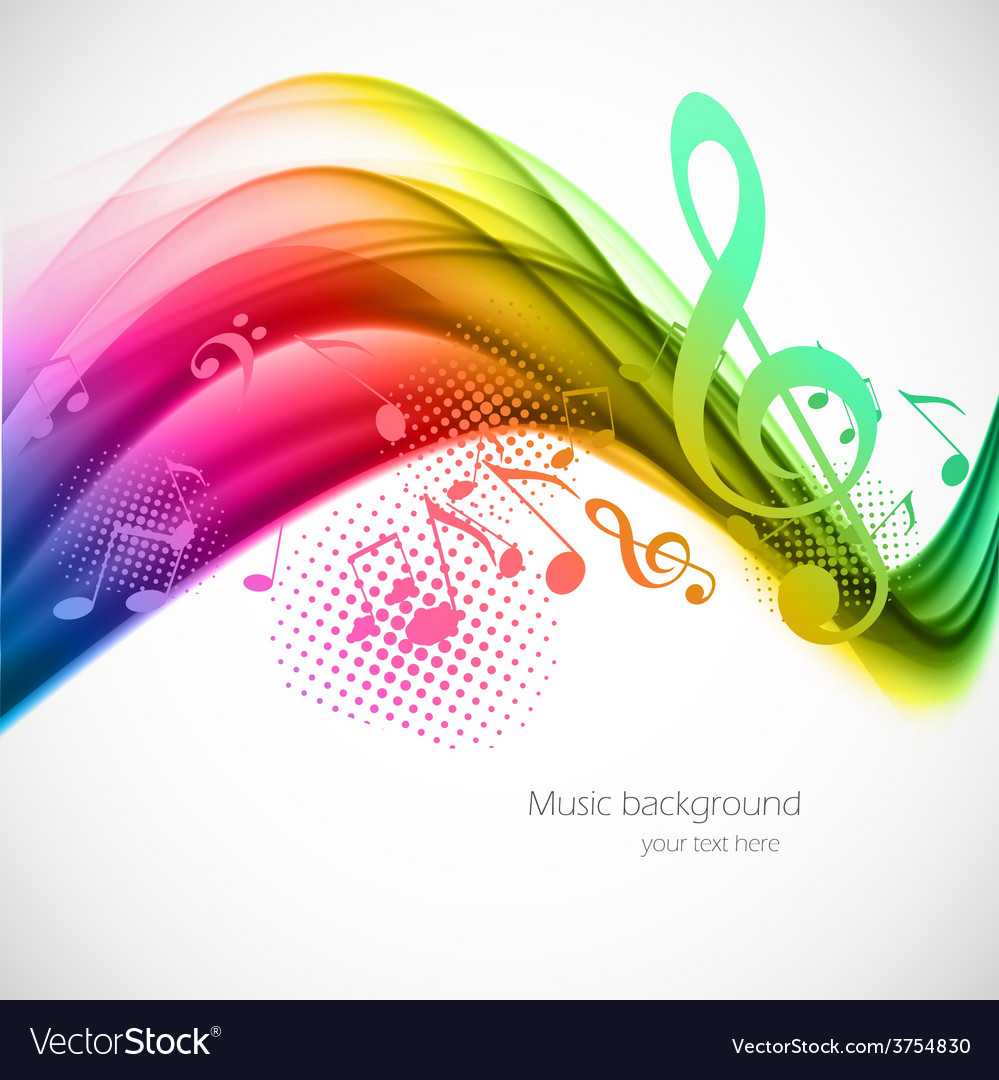 Colorful music background vector | Price: 1 Credit (USD $1)