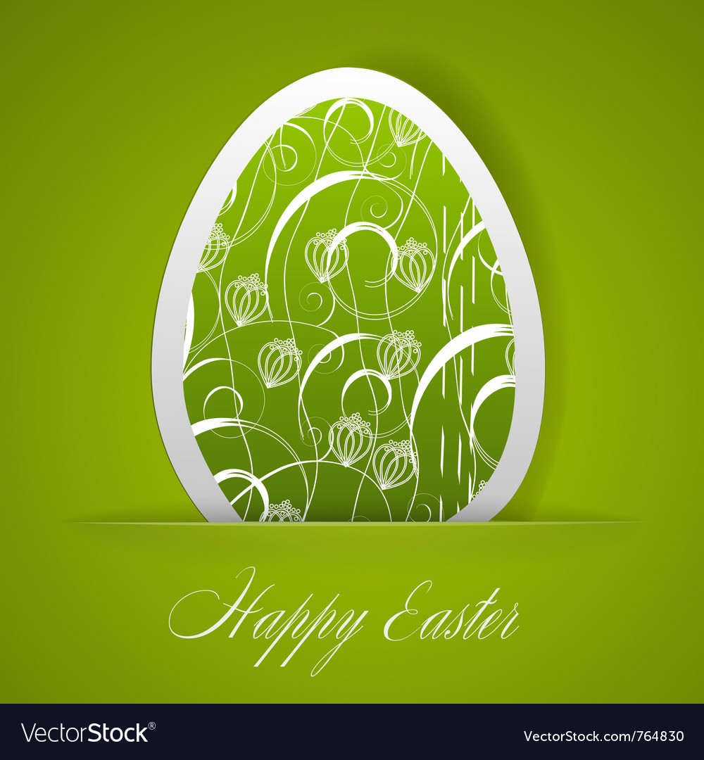 Happy easter greeting card vector | Price: 1 Credit (USD $1)