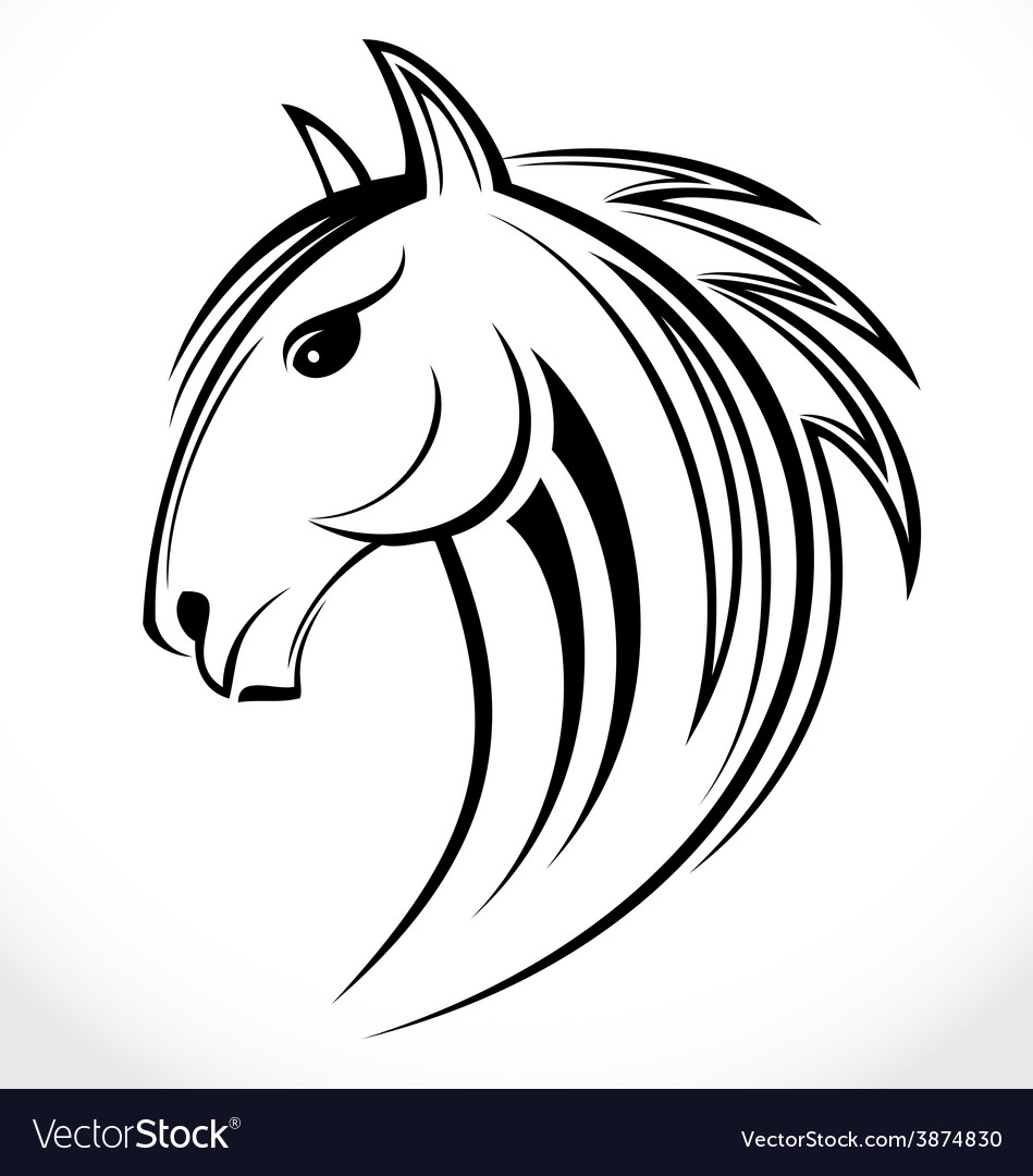 Horse head tribal vector | Price: 1 Credit (USD $1)