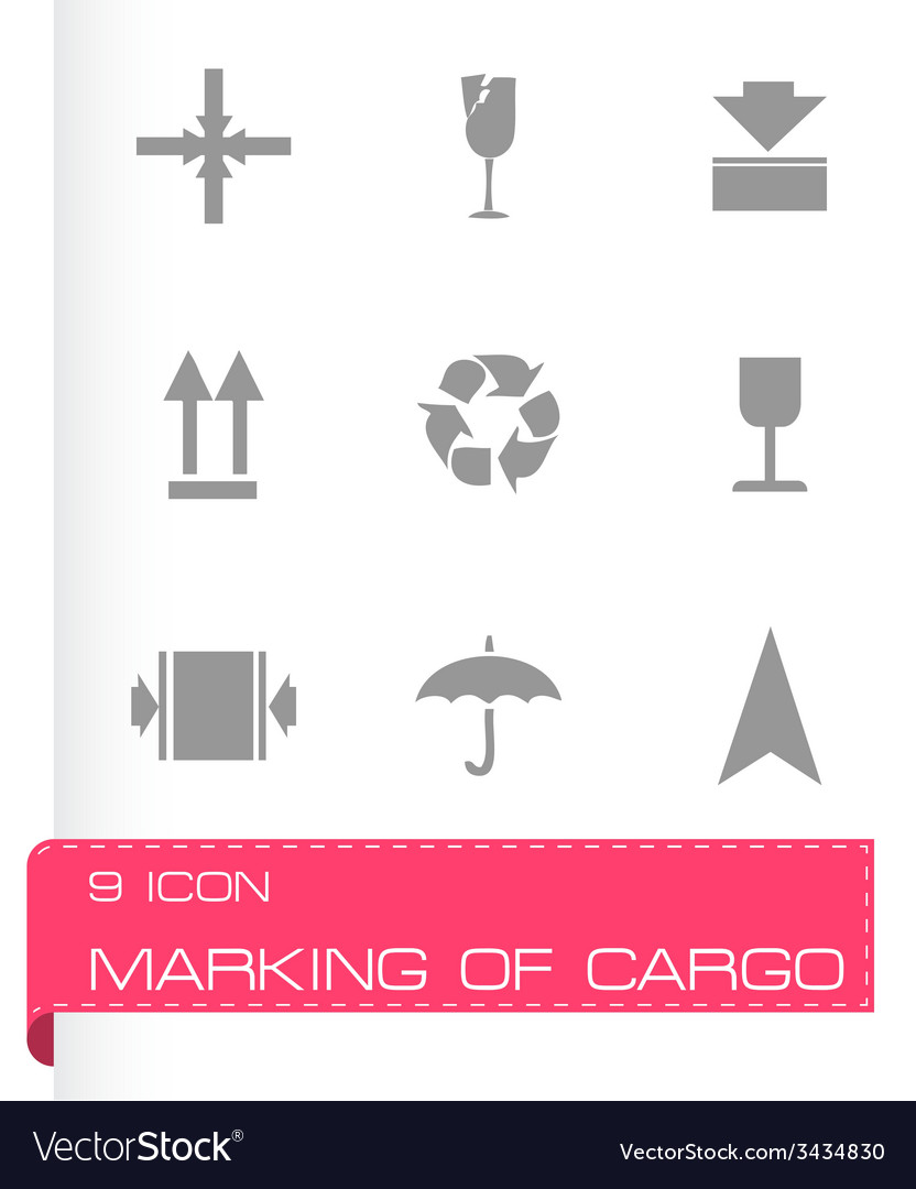 Marking of cargo icons set vector | Price: 1 Credit (USD $1)