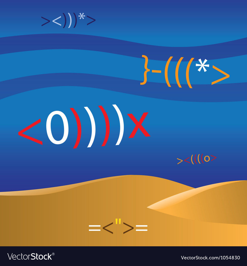 Mathematic fish vector | Price: 1 Credit (USD $1)