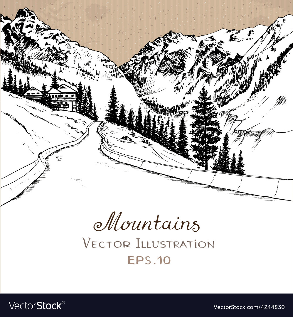 Mountainroad vector | Price: 1 Credit (USD $1)