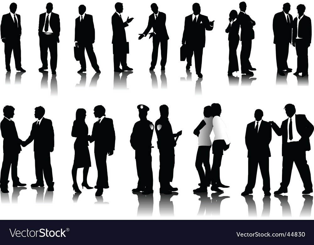 Office people silhouettes vector | Price: 1 Credit (USD $1)