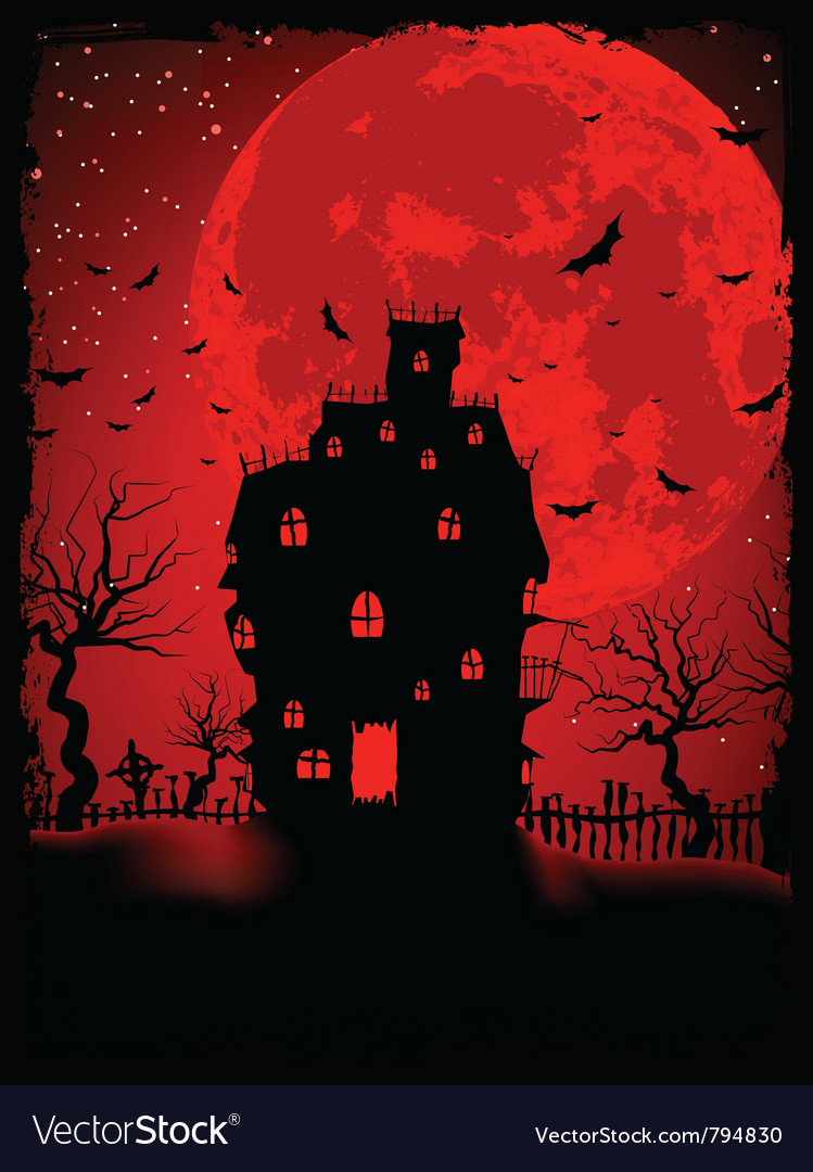 Scary halloween castle vector | Price: 1 Credit (USD $1)