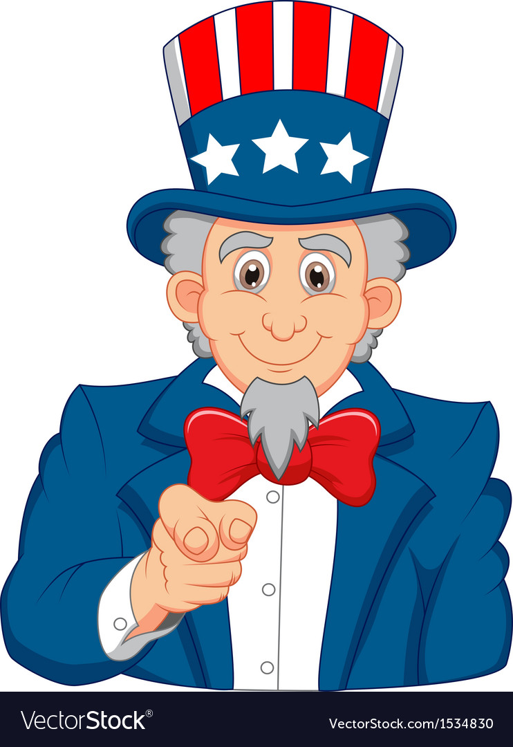 Uncle sam cartoon wants you vector | Price: 1 Credit (USD $1)