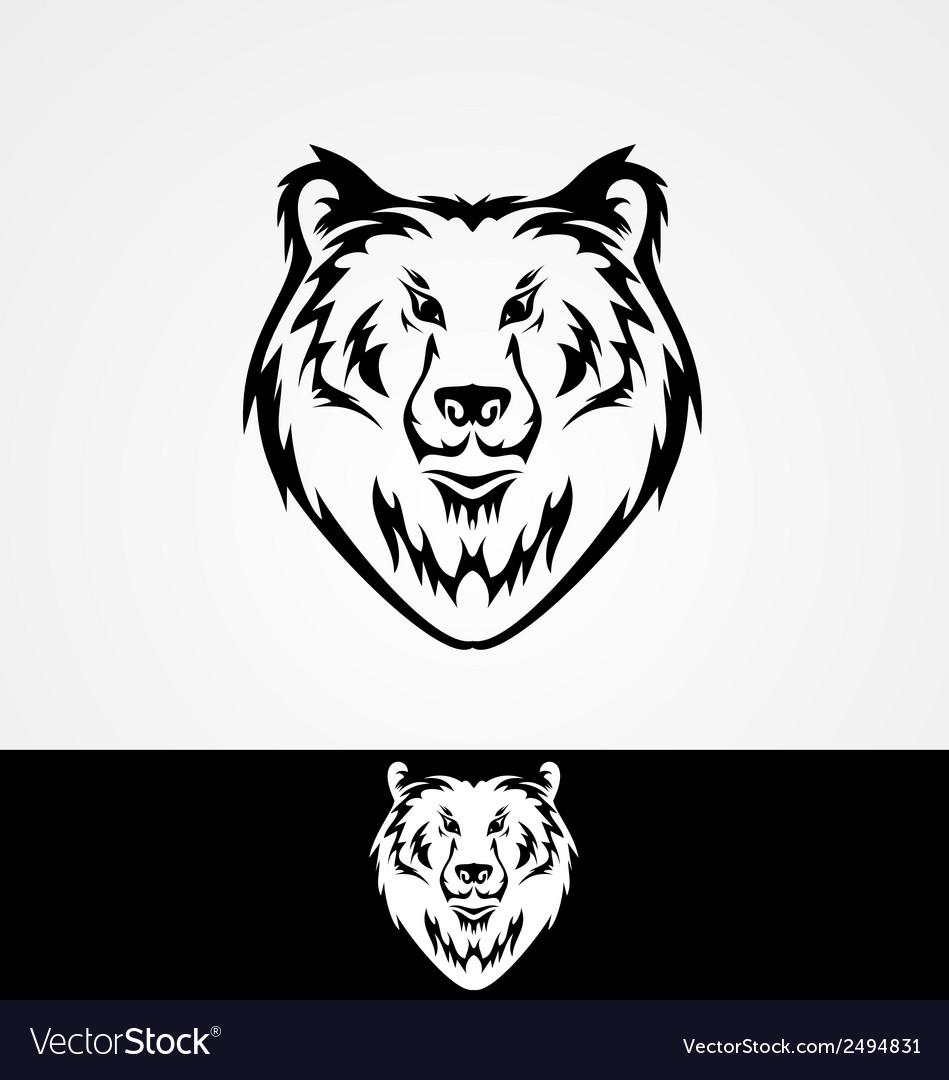 Bear face tribal vector | Price: 1 Credit (USD $1)