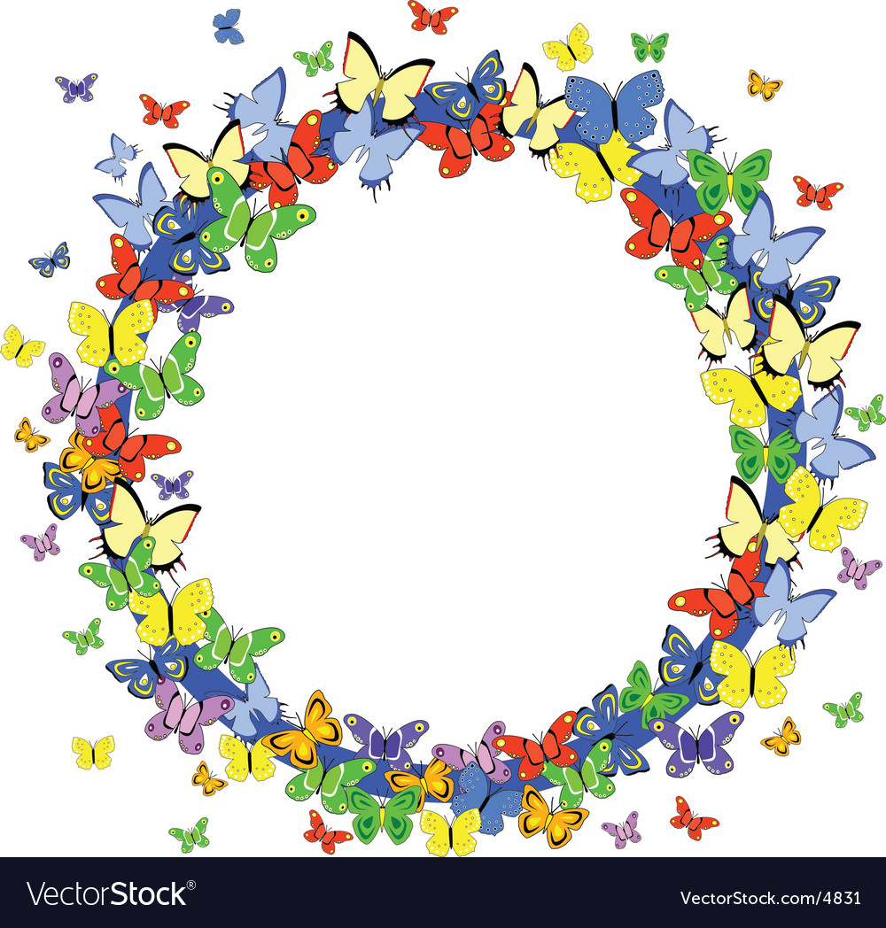 Butterfly border vector | Price: 1 Credit (USD $1)