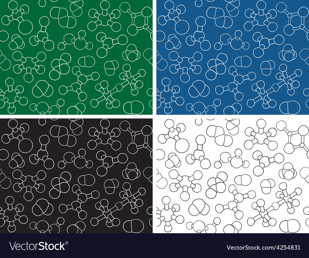 Chemistry background - seamless pattern molecule m vector | Price: 1 Credit (USD $1)