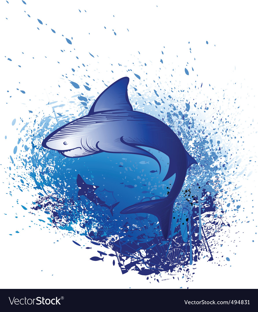 Great white shark vector | Price: 1 Credit (USD $1)