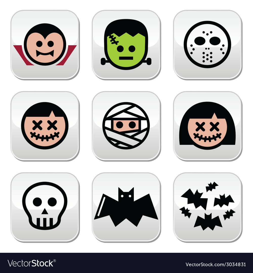 Halloween characters - dracula monster mummy but vector | Price: 1 Credit (USD $1)