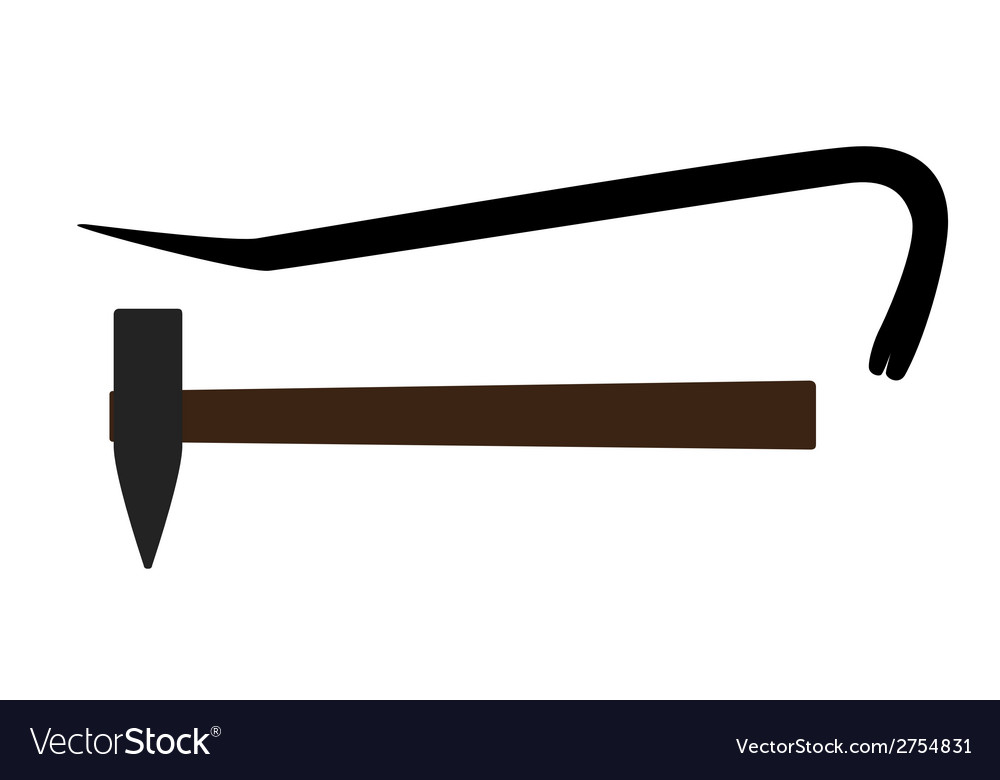 Hammer and crowbar construction tools vector | Price: 1 Credit (USD $1)