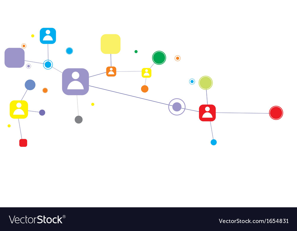 Human connection abstract business concept vector | Price: 1 Credit (USD $1)
