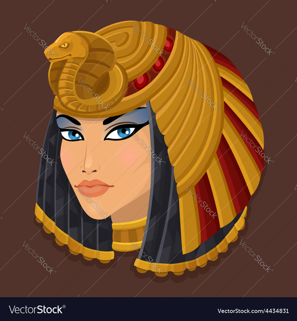 Icon head cleopatra vector