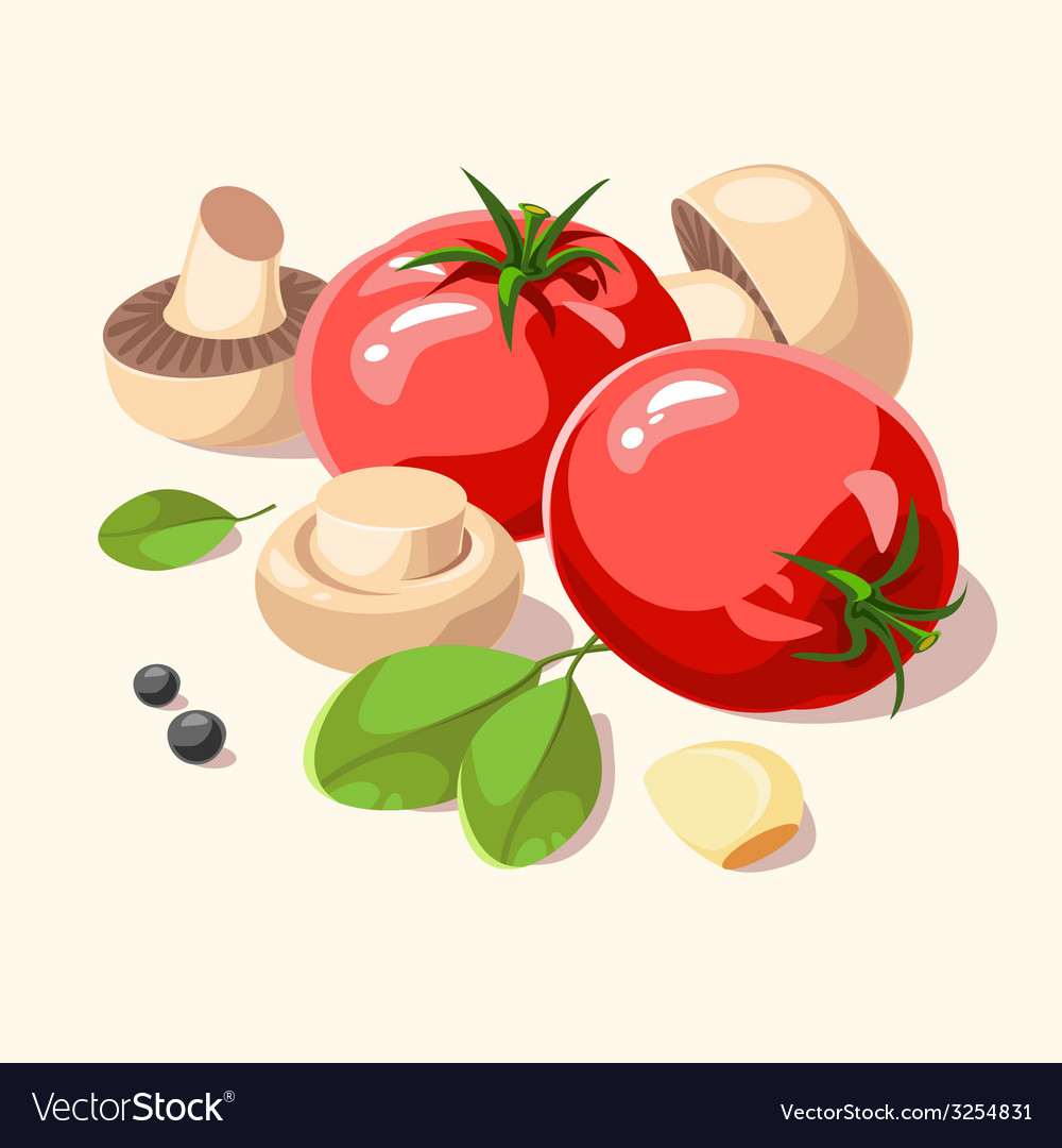 Ingredients italian cuisine vector | Price: 1 Credit (USD $1)