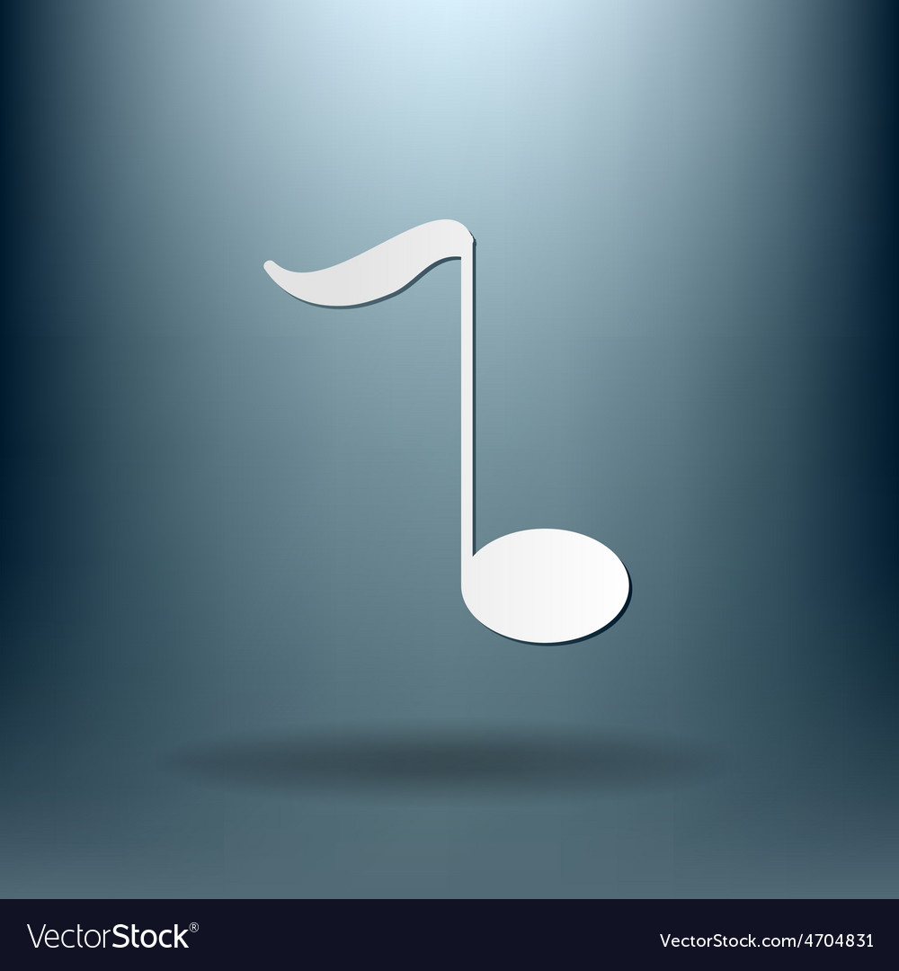 Musical note character singing and the music vector | Price: 1 Credit (USD $1)