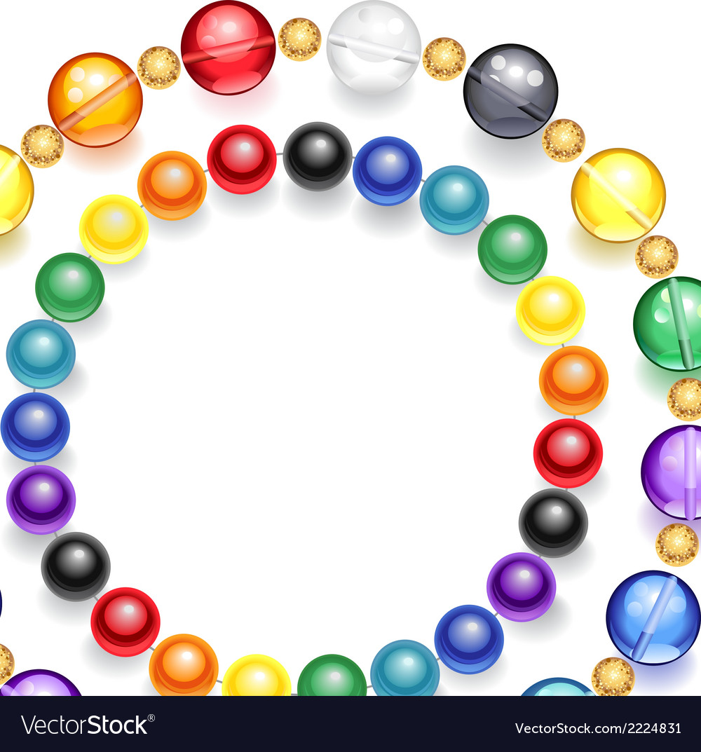 Necklace of multicolored beads vector | Price: 1 Credit (USD $1)