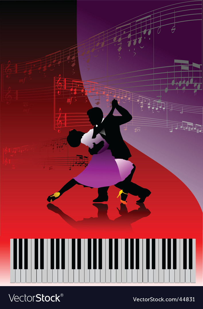 Piano and dance vector | Price: 1 Credit (USD $1)