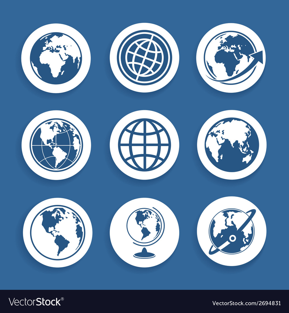 Set of symbols planet vector | Price: 1 Credit (USD $1)