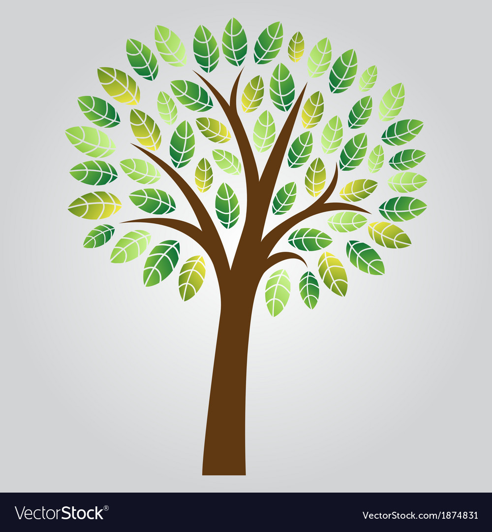Stylized tree vector | Price: 1 Credit (USD $1)