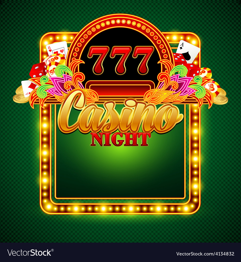 Casino background with cards chips craps vector | Price: 3 Credit (USD $3)