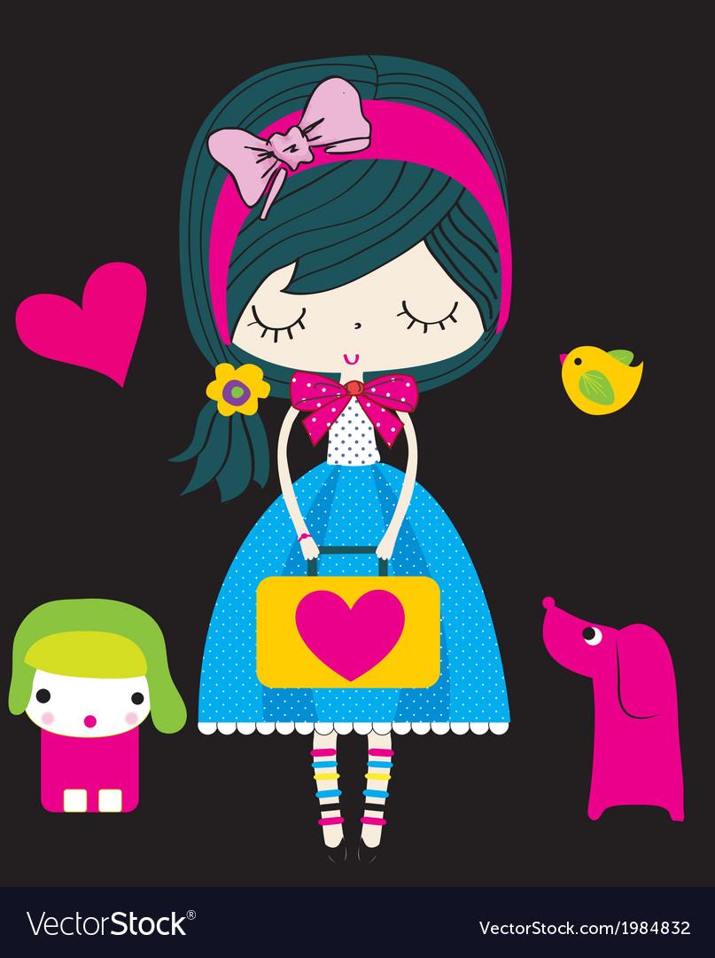 Cute girl vector   Price: 1 Credit (USD $1)