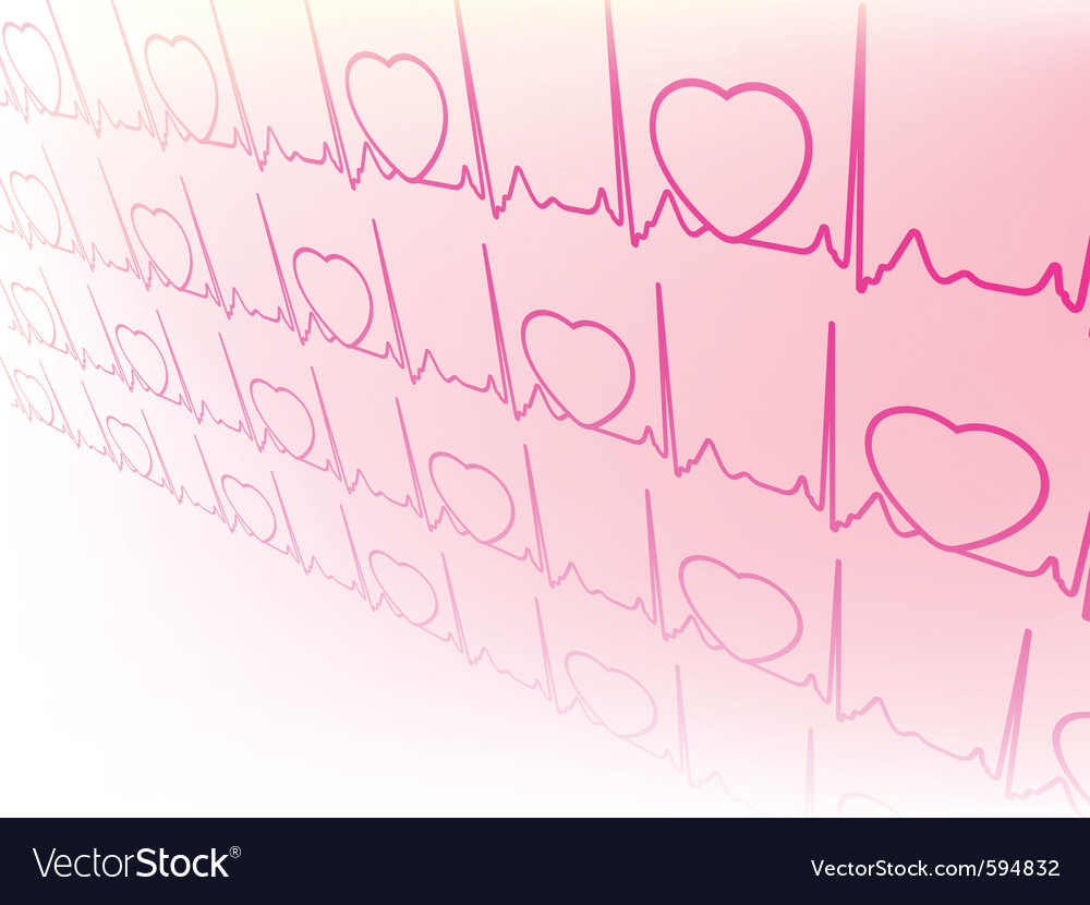 Electrocardiogram wave vector | Price: 1 Credit (USD $1)