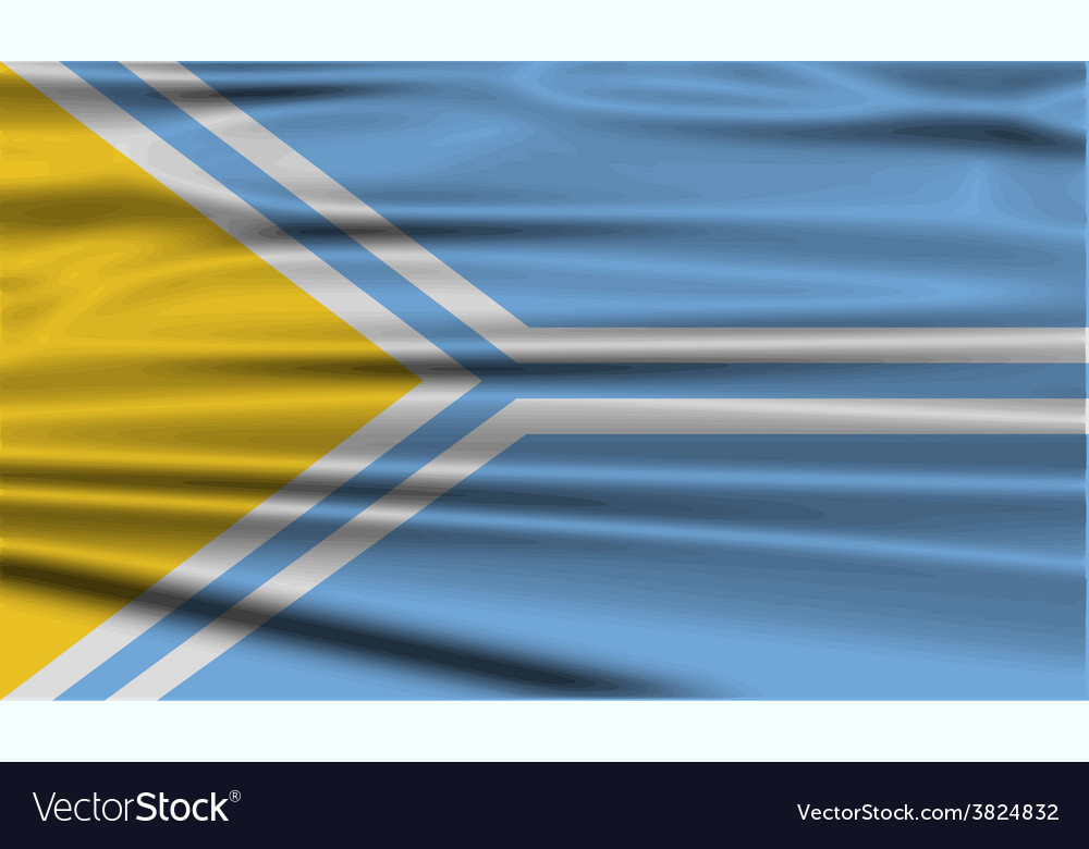 Flag of tuva republic russia with old texture vector | Price: 1 Credit (USD $1)
