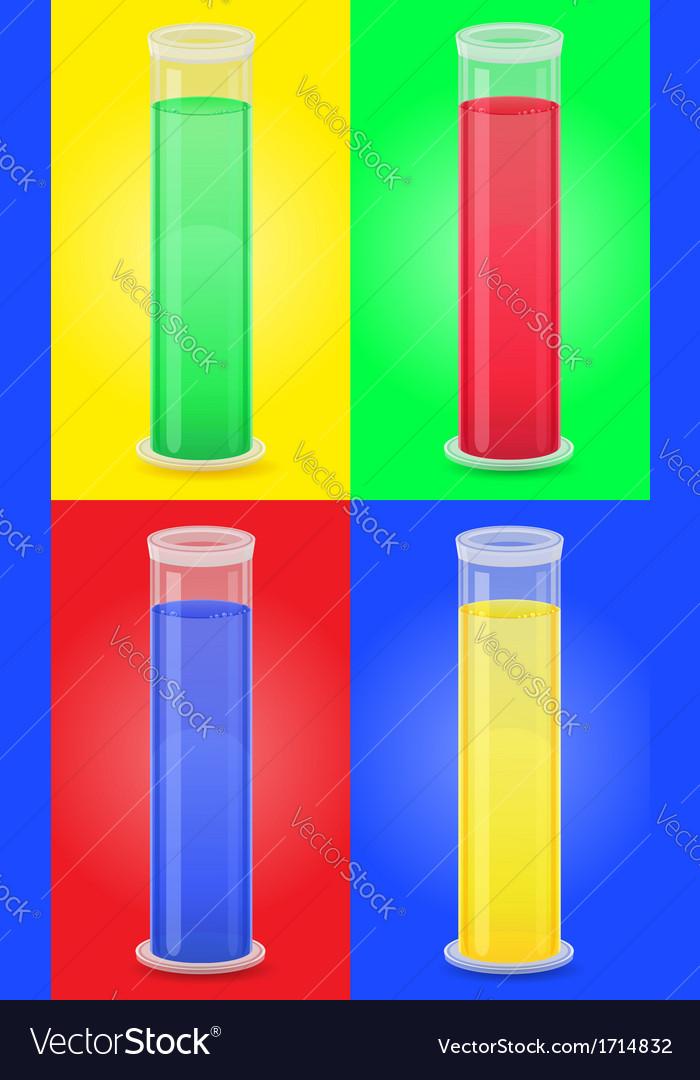 Glass tube 09 vector | Price: 1 Credit (USD $1)