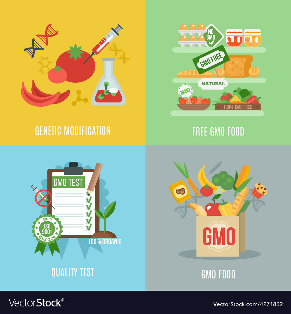 Gmo flat set vector | Price: 1 Credit (USD $1)