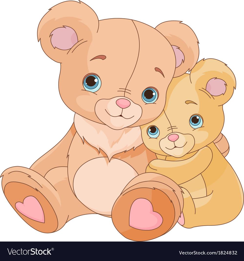 Hugging bears vector