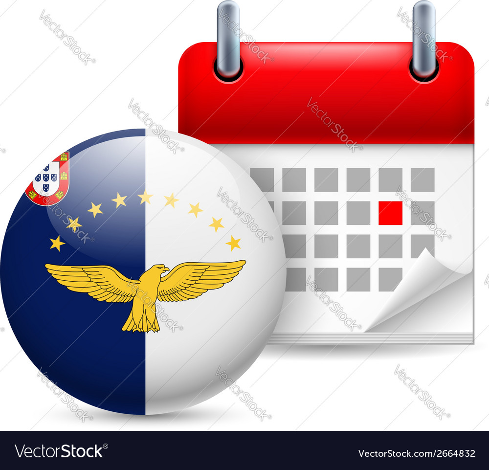 Icon of national day in azores vector | Price: 1 Credit (USD $1)
