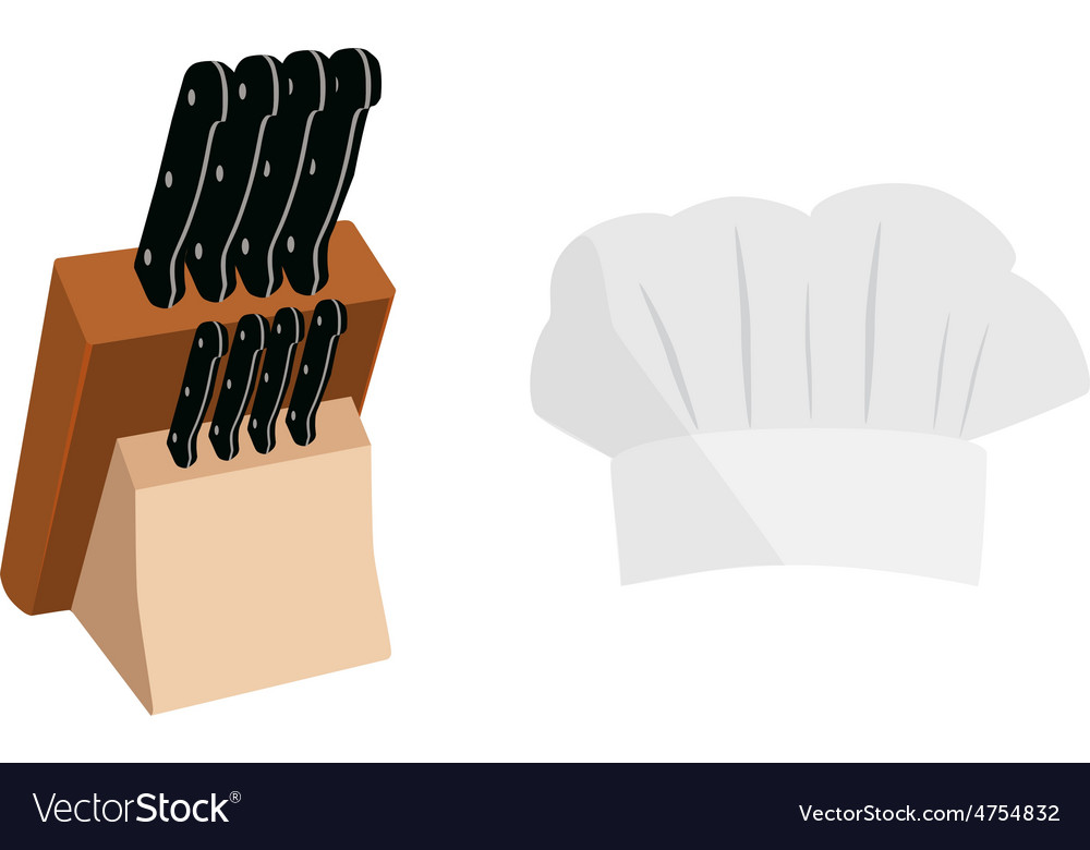 Knife holder and cook hat vector | Price: 1 Credit (USD $1)