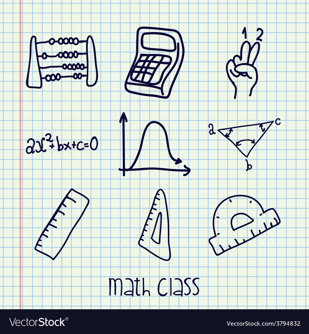 Math class design vector | Price: 1 Credit (USD $1)