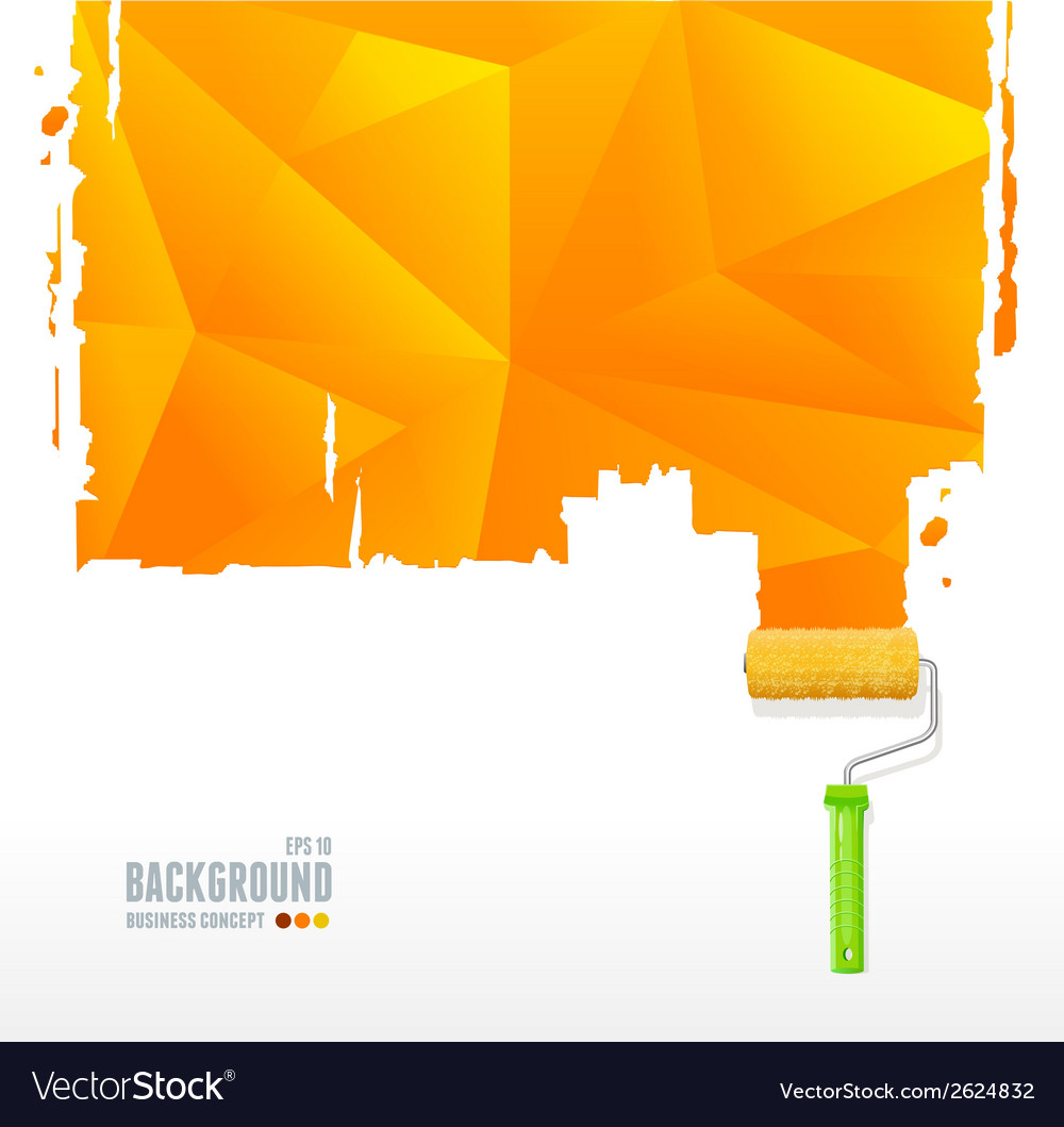 Roller brush and triangle background vector | Price: 1 Credit (USD $1)