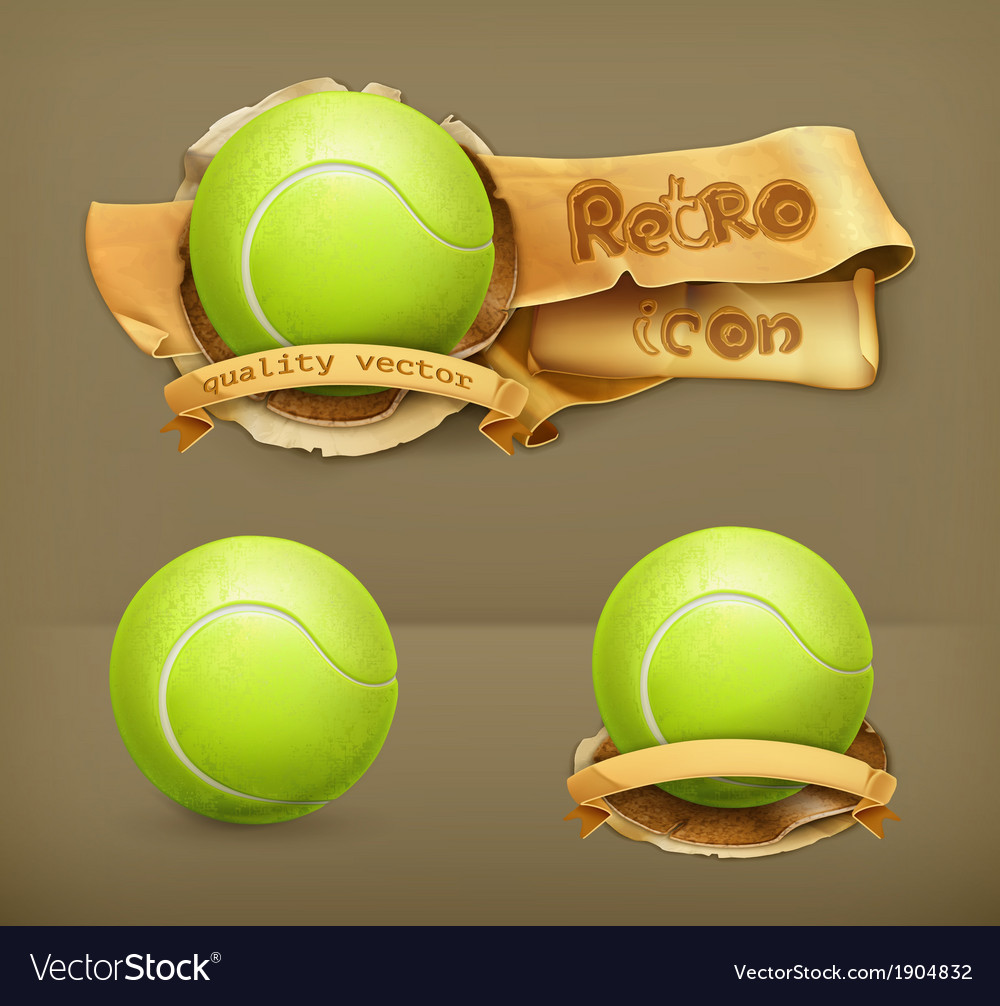 Tennis-ball icon vector | Price: 1 Credit (USD $1)