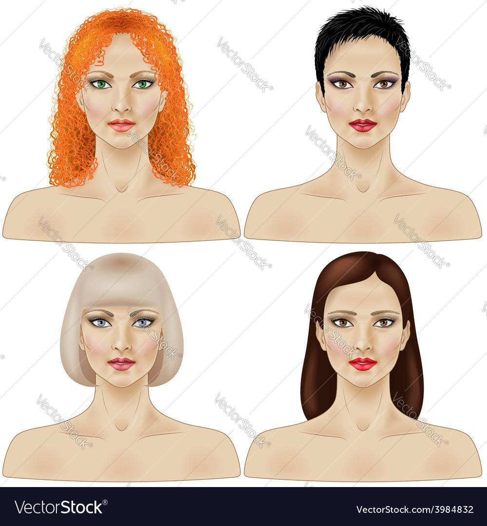 Women faces vector   Price: 3 Credit (USD $3)