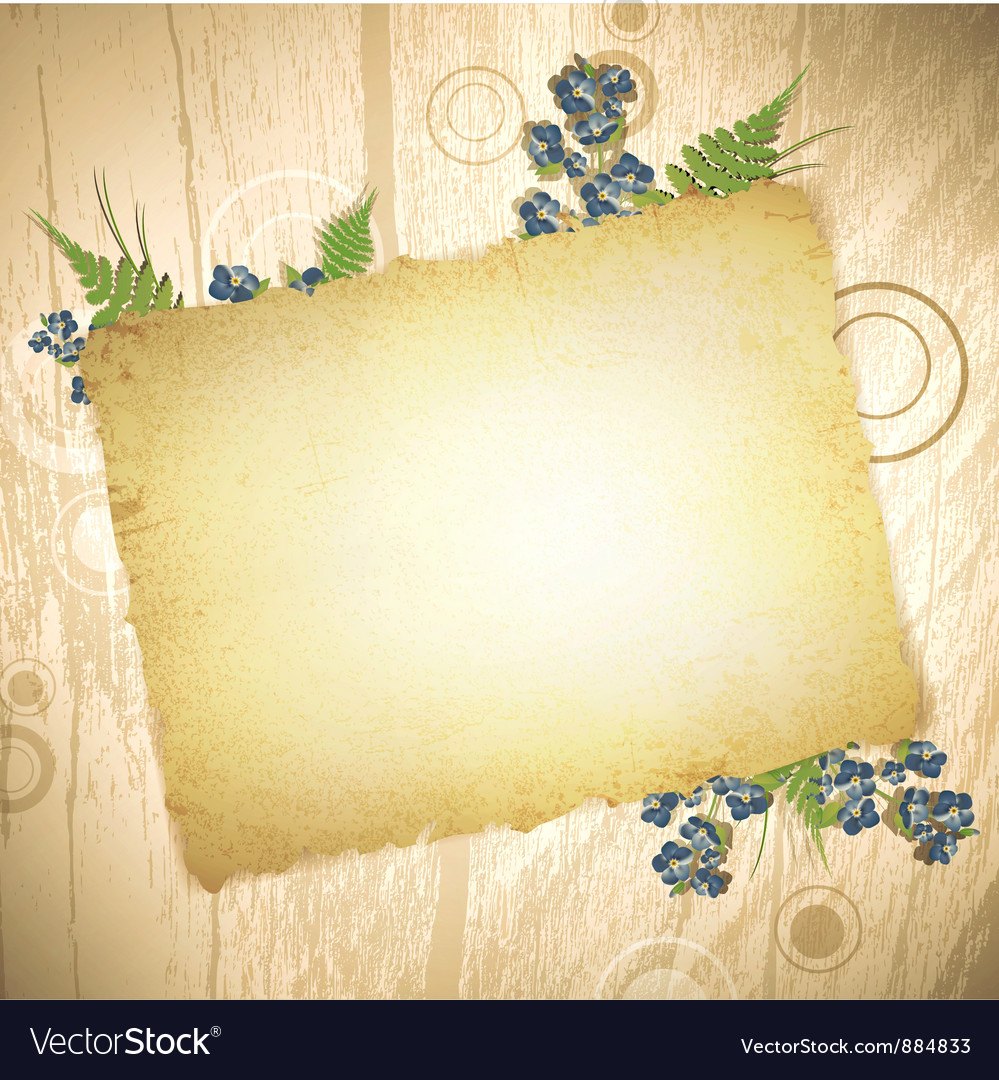 Burnt paper at wooden background vector | Price: 1 Credit (USD $1)