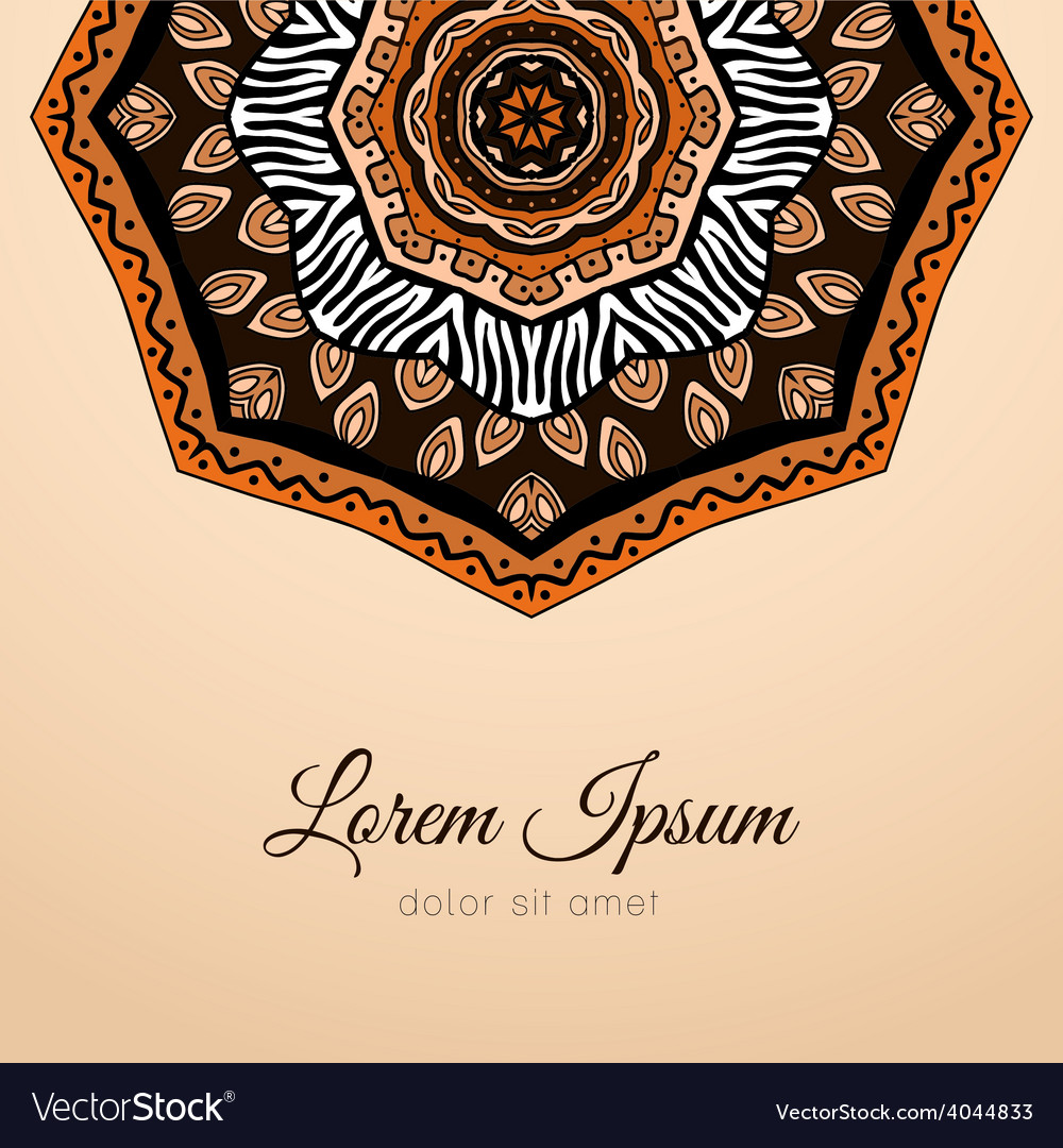 Card with doodles ethnic design element vector | Price: 1 Credit (USD $1)