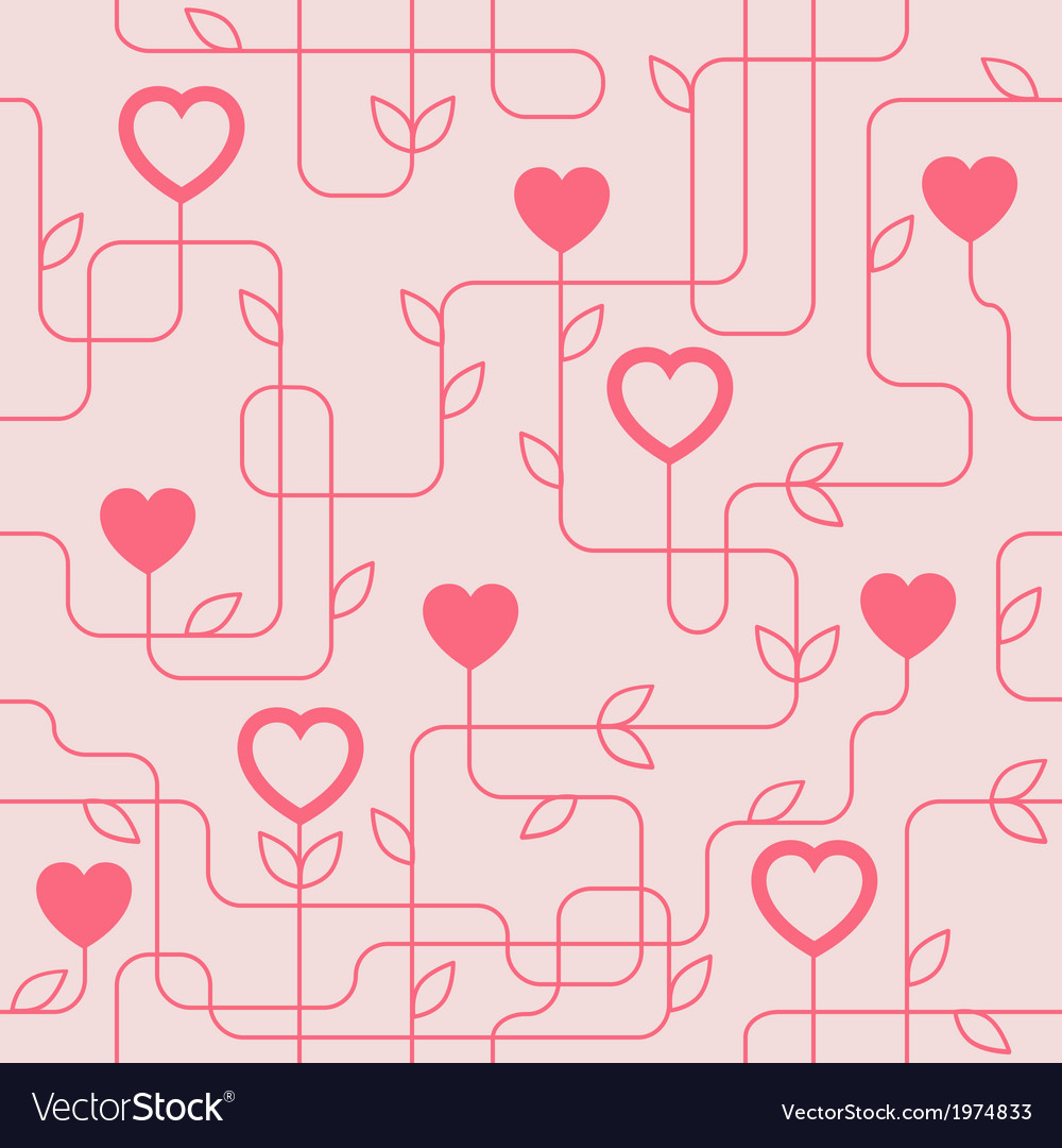 Creative valentines day seamles pattern vector | Price: 1 Credit (USD $1)