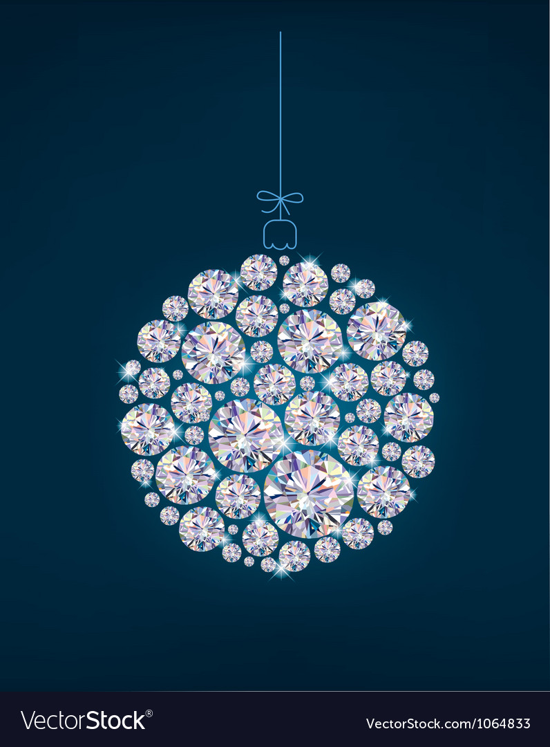 Diamond christmas ball vector | Price: 1 Credit (USD $1)