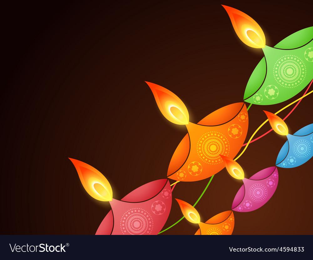 Diwali festival design vector | Price: 1 Credit (USD $1)