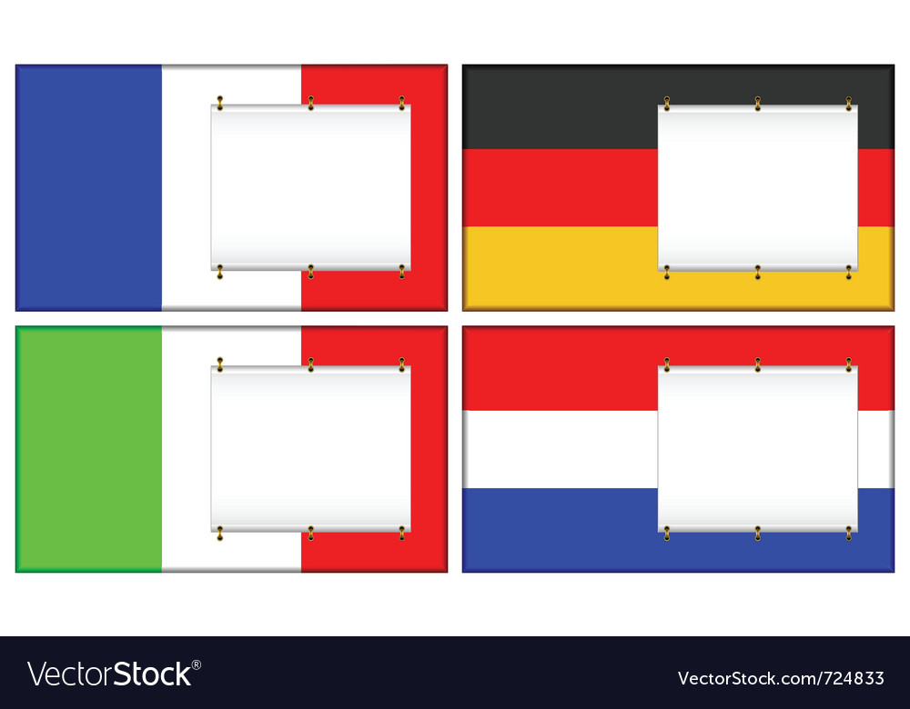 Flags and banners vector | Price: 1 Credit (USD $1)