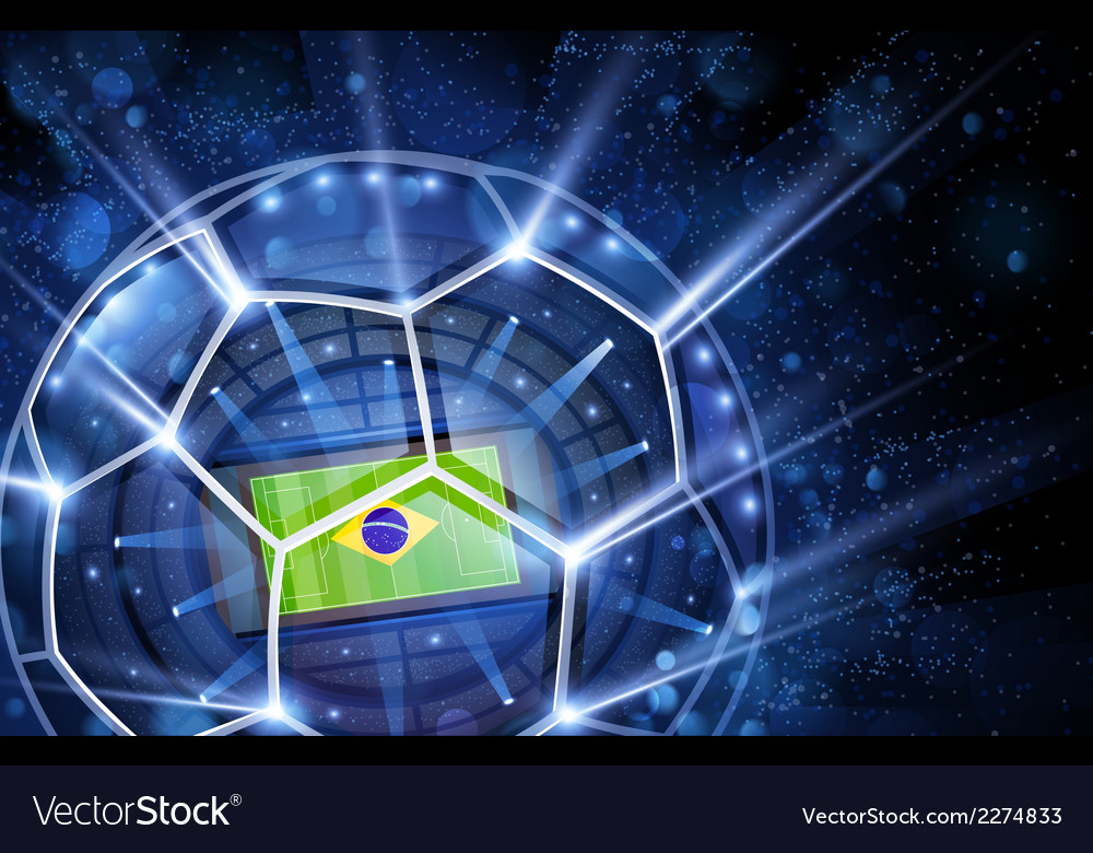 Football arena top view vector | Price: 1 Credit (USD $1)