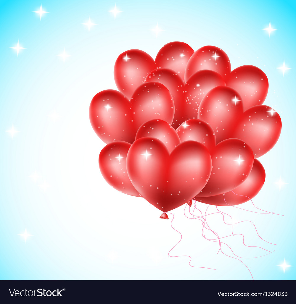 Heat balloons flying vector | Price: 1 Credit (USD $1)