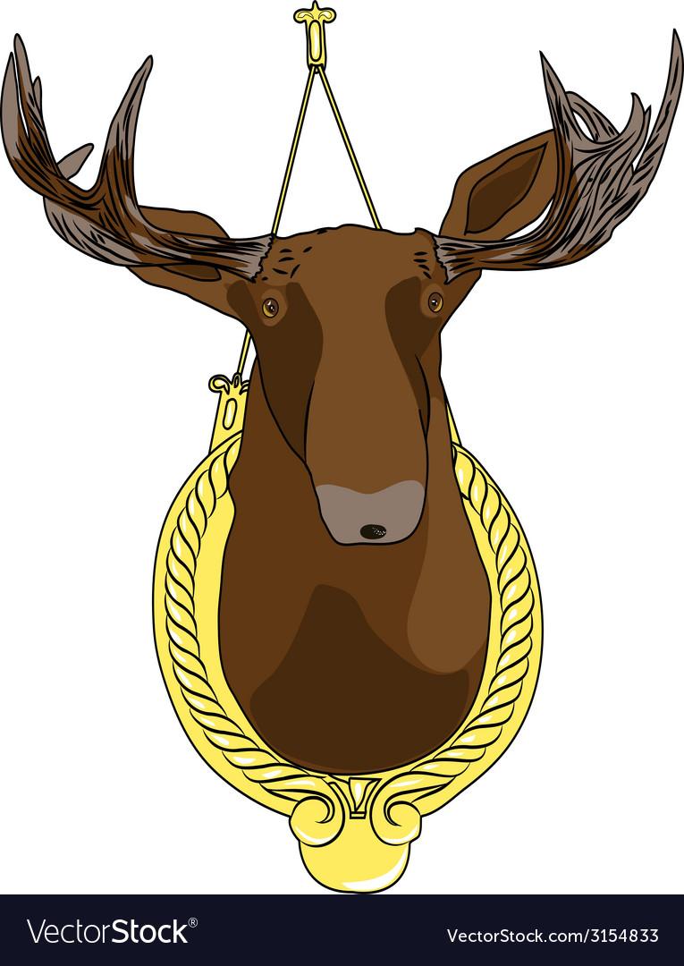 Moose head vector | Price: 1 Credit (USD $1)